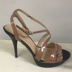 Guess Black and Tan Stiletto Heels Size 9